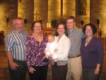 Connor's baptism with Grammy, Grampy and Aunt CiCi