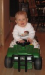 On his gator for his first Thanksgiving