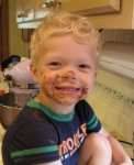 Helping Mommy bake a cake