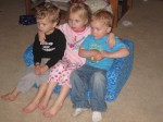 Collin, Gavin and Olivia watch a movie