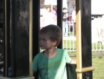 In the train at the Berrien County Youth Fair