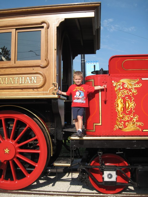 With a steam engine